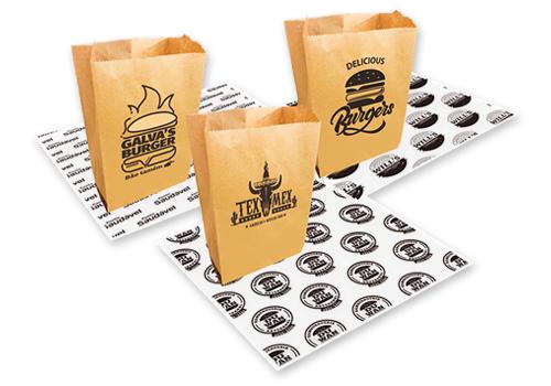 saco delivery e papel acoplado antigordura